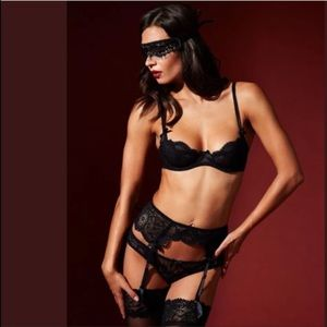 AP L'Agent Vanesa garter belt and panty set S